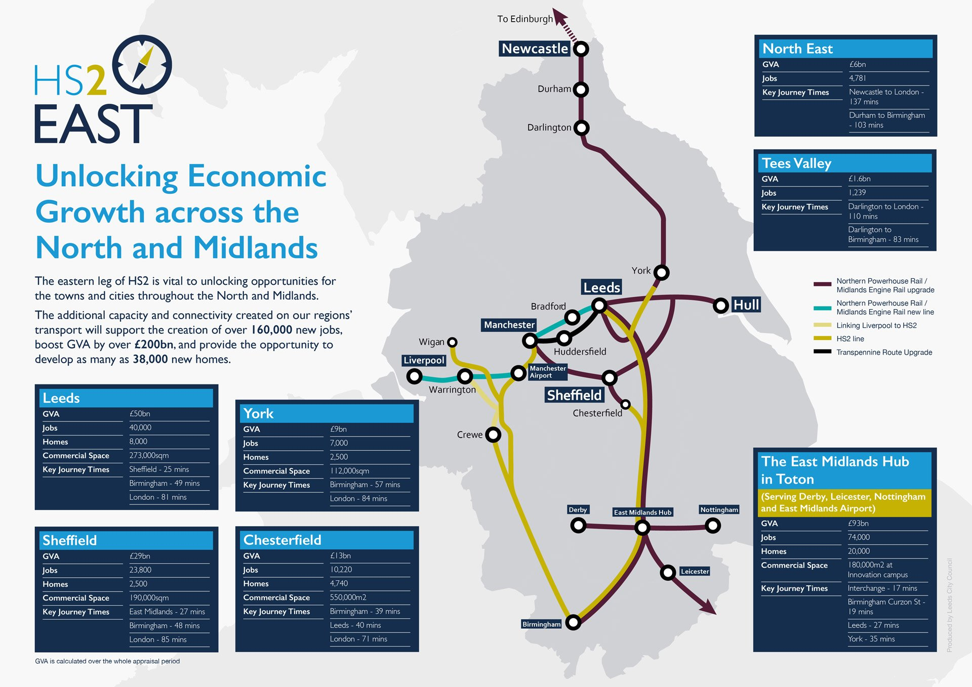 HS2 East map detail