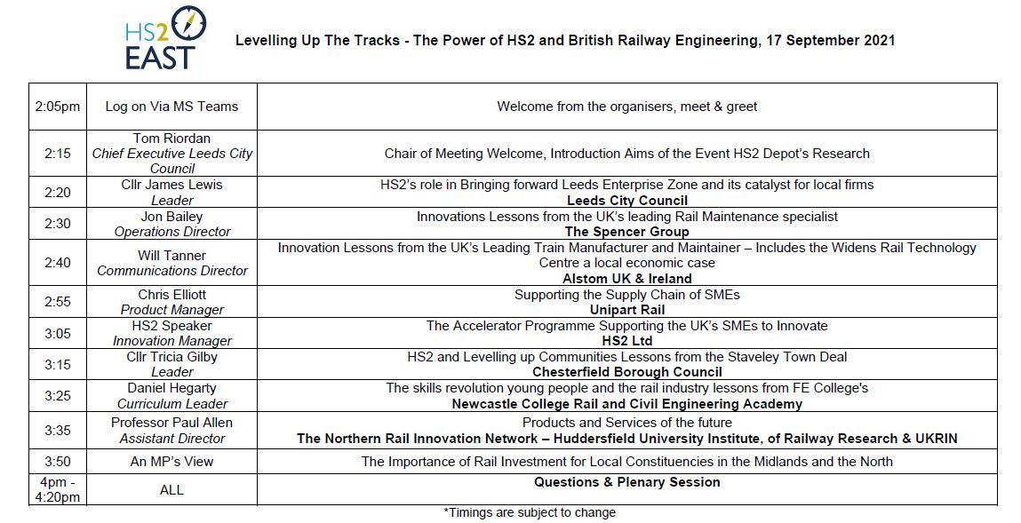 Levelling Up The Tracks Agenda